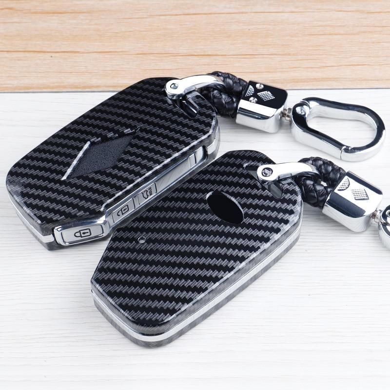 High quality Carbon fiber  Marble texture Car Key Fob Shell Cover Case For Kia Sportage Ceed Sorento Cerato Forte 2017 2018 2019