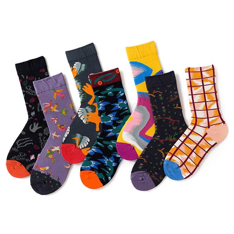 õPromoteShort Skateboard Cotton Socks Happy Funny Novelty Warm Cartoon Women Kawaii Streetwear■