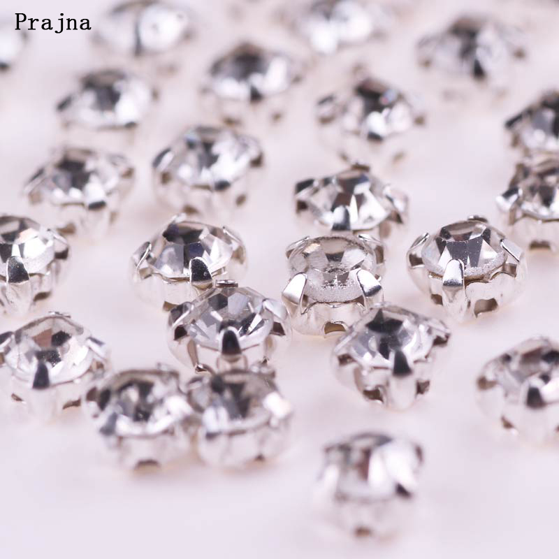 6mm Red Rhinestone Decorative Brads Diamante Jewel Gem Crystal Scrapbook Craft