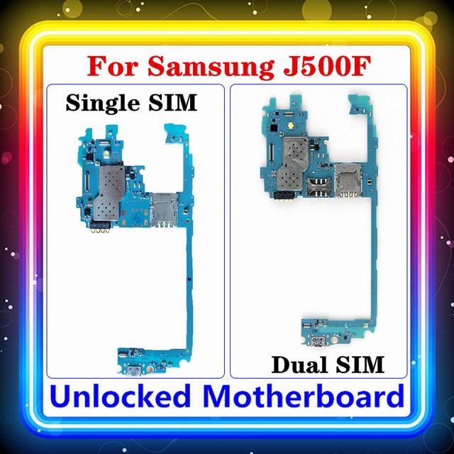 Voor Samsung Galaxy J5 J500F Moederbord Originele Vervangen Schoon Moederbord Single/Dual Sim Ondersteuning Logic Board Android Os