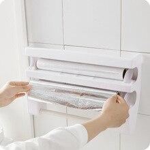 1 шт Многофункциональный Кухня полки Пластик Обёрточная бумага Портативный полки