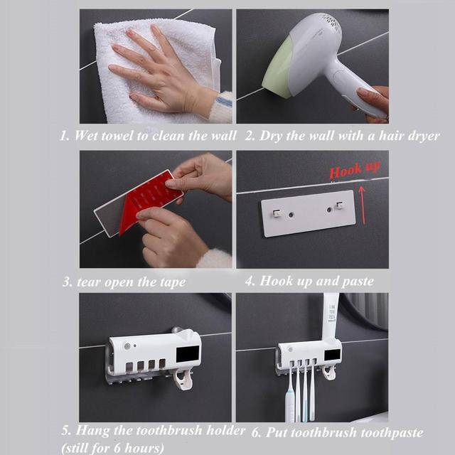 Solar Energy UV Toothbrush Sanitizer Cleaning Agent
