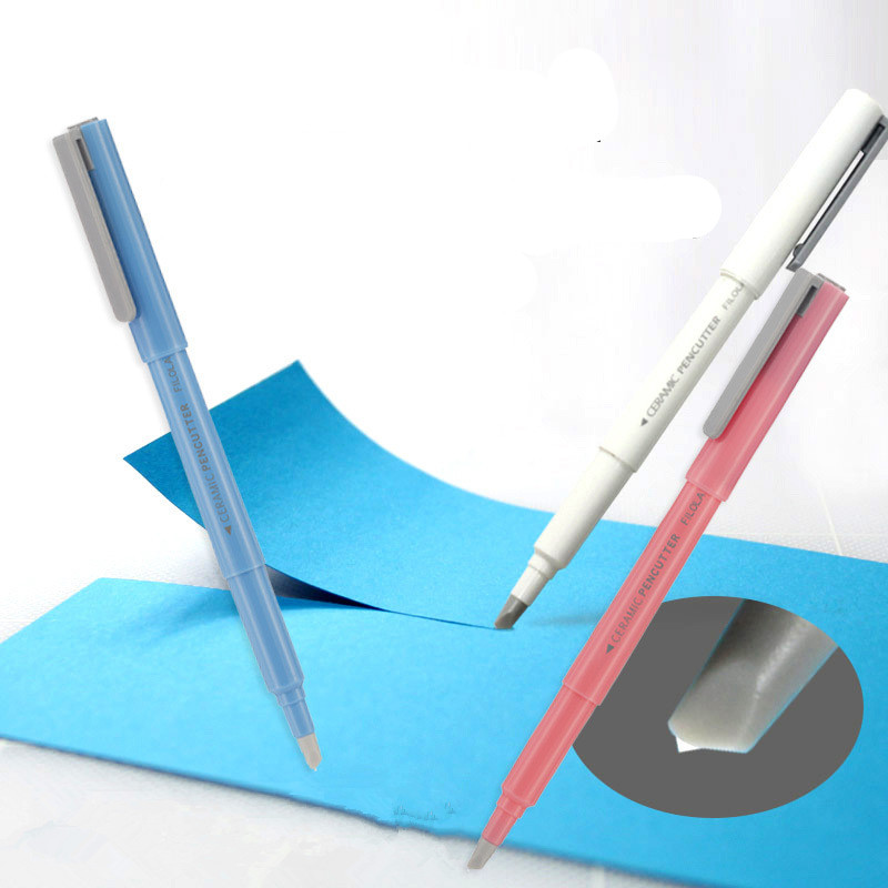 Office Stationery Utility Knife Pen Type Ceramic Knife Home Paper Card Cutting Tool Artist Scalpel Blade Trimmer Art Craft