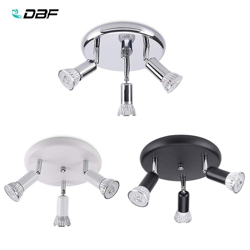 [DBF]Round GU10 Ceiling Light Living Room Adjustable 3-Light Ceiling Spots Bedroom LED Kitchen Surface Mount Ceiling Spot Light