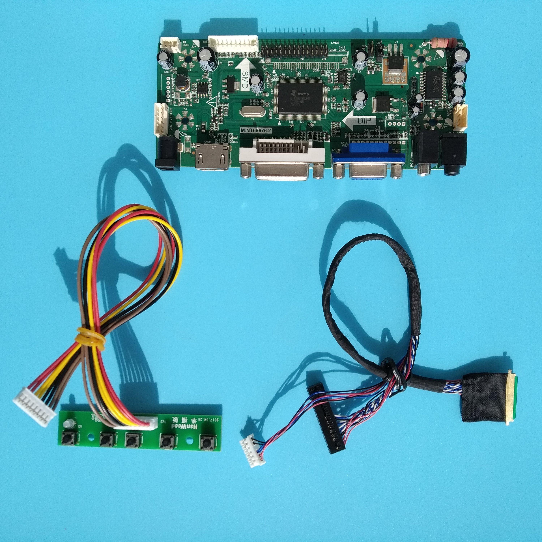 HDMI+DVI+VGA + housing LCD LED Controller Board Driver kit for LTN133W1-L01