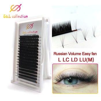 L//LC/LD/M curl Eyelashes Makeup Eyelash Extension Bloom Auto Fans Eyelash Easy Fanning Lashes Auto Fan Magnetic Camellia Beauty 1