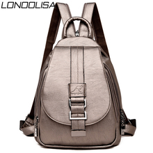 Back Pack 2020 Women Genuine Leather Backpacks Chest Bag Bagpack Ladies Travel Backpack Mochilas School Bags For Teenage Girls