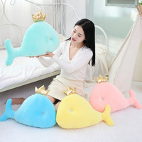 Down Cotton Dolphin Pillow Whale Plush Toys Software Oceans Animal doll Children Gift Home Decoration