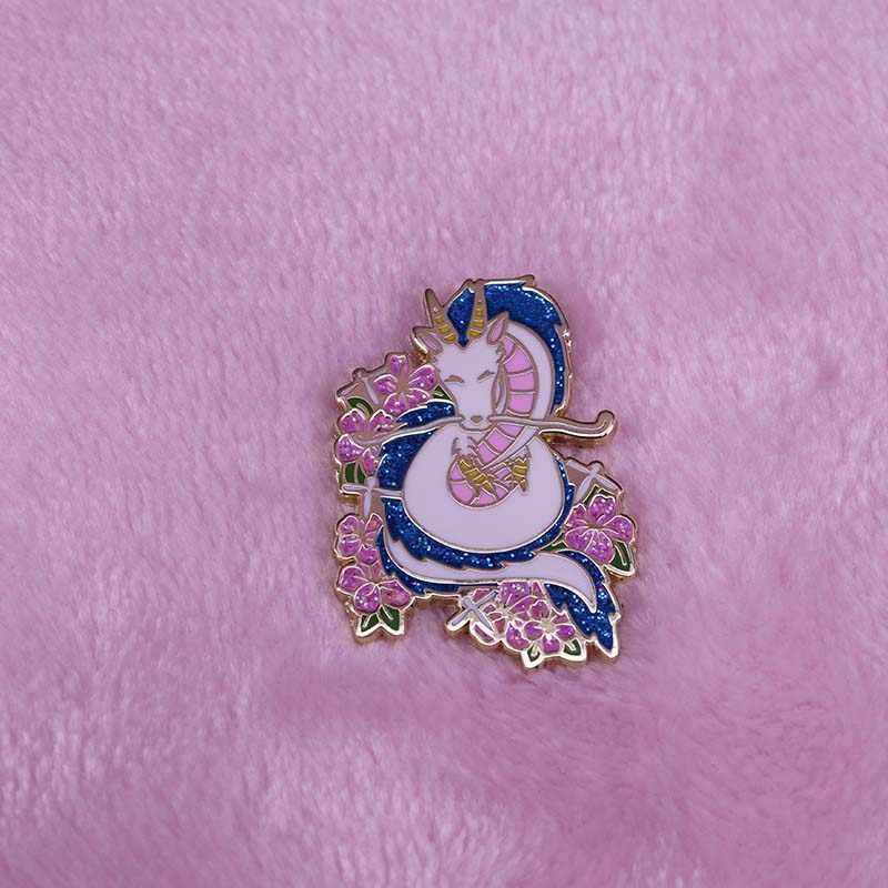 Draak Haku Anime Emaille Pin Japanse Geanimeerde Coming-Of-Age Fantasy Film Broche