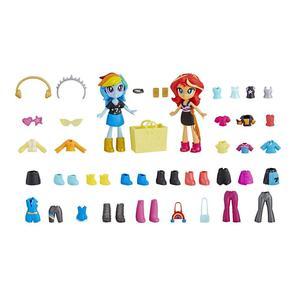 Image 4 - ต้นฉบับMy Little Ponyตุ๊กตาแฟชั่นที่ดีที่สุดเพื่อนRainbow Sunsetรุ่นตัวเลขการกระทำของเล่นเด็กวันเกิดของขวัญBonecas