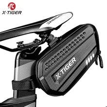 Bolsa de bicicleta de X TIGER a prueba de lluvia, bolsa de sillín de bicicleta de montaña, tija de sillín para ciclismo, gran capacidad, a prueba de golpes, accesorios traseros