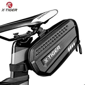 Image 1 - Sac de selle de vélo résistant à la pluie, pour vtt, tige de selle arrière de grande capacité, antichoc, accessoires de bicyclette, X TIGER