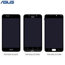 ASUS Zenfone ZC520TL ZC550KL ZC554KL Digitalizador de pantalla táctil de pantalla LCD con montaje de panel de Marco