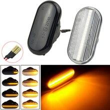 Car Side Marker Light Dynamic LED Turn Signal Light For Nissan Tiida C11 Note E11 NE11 Micra K12 NP300 Navara D40 Qashqai J10
