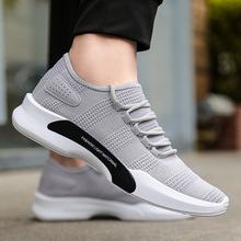Summer Causal Shoes For Man Breathable Mesh Tenis Male Black White Outdoor Walking Sneakers Men Footwear 2018