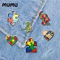 2020 Новый символ аутизм штырь отворотом смолы Акриловые Броши Булавки на лацкан ручной работы эпоксидные украшения рубашка сумка со значком