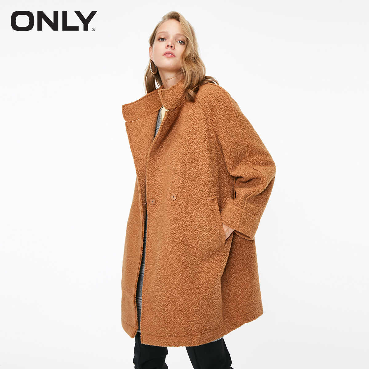 Women's Berber Fleece Spliced Trench Coat  | 118336577
