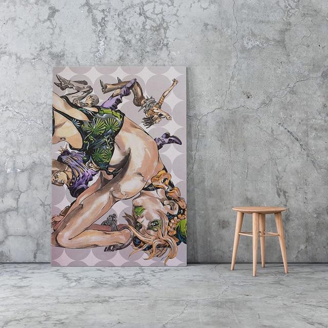 Canvas Paintings Modular JoJo's Bizarre Adventure Poster Japanese Anime Pictures Wall Art Jolyne Cujoh HD Prints Home Decoration