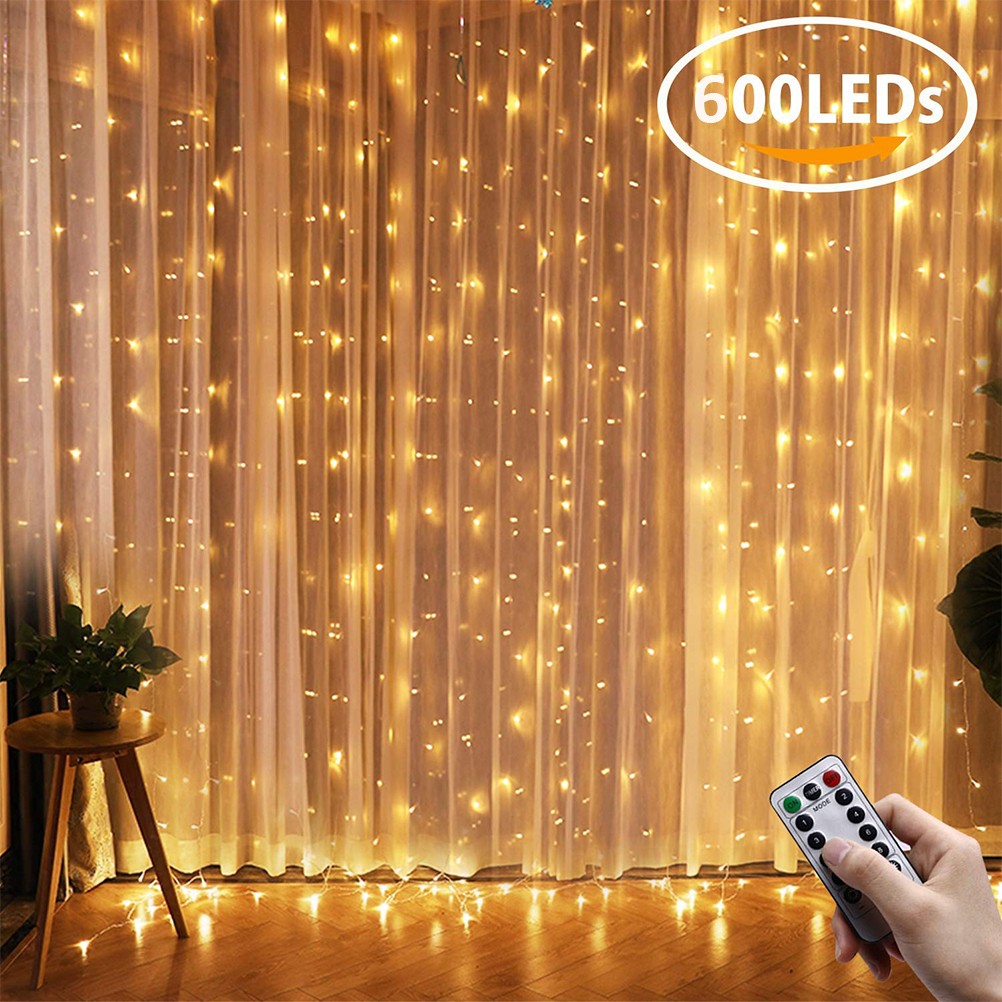 600cmx300cm LED Fairy Light For Window Curtain Bedroom Decoration Remote Control Christmas Party Holiday Lighting Led String