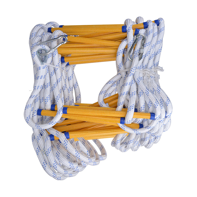 Fire Escape Ladder Folding Rope Ladder Emergency Fire Rescue Self-rescue High Strength Epoxy Resin Soft Steps Climbing Ladder