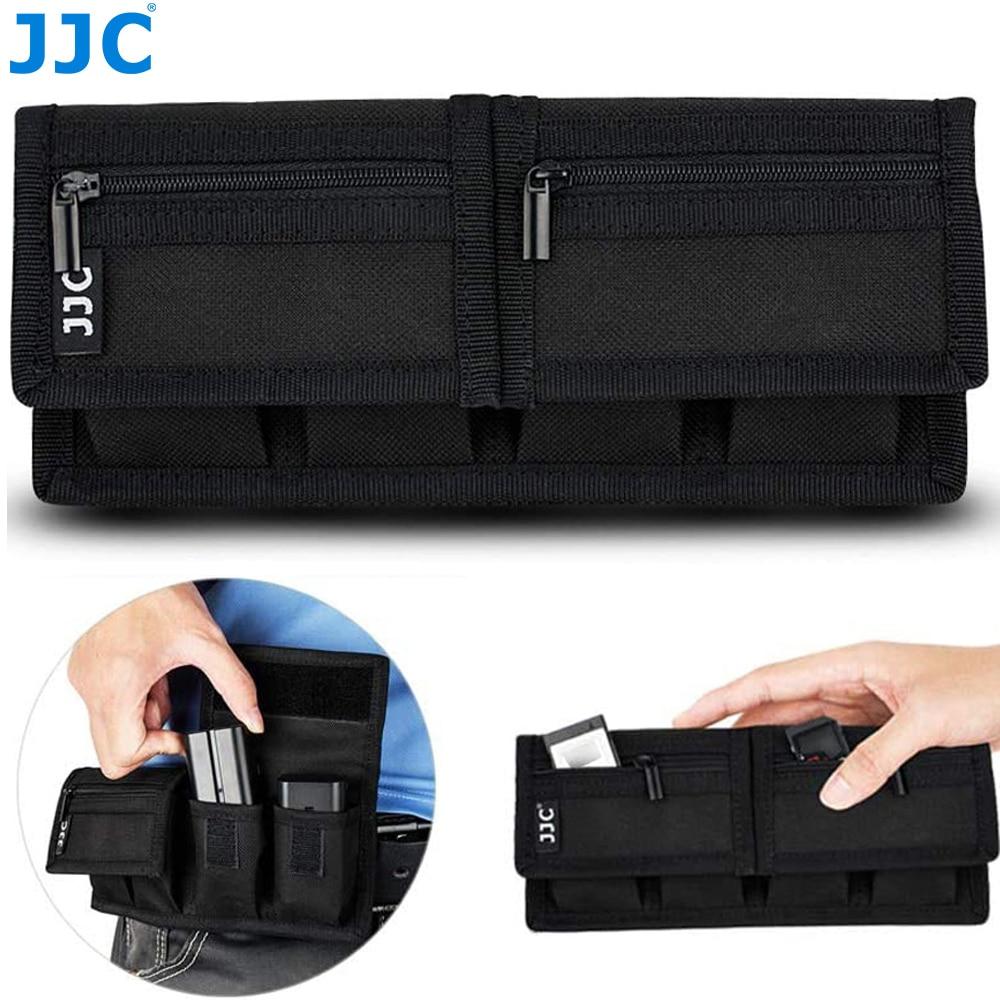 Battery Pouch Memory Card Case Storage Bag for SD CF XQD Cards for Sony NP-F550 NP-FW50 NP-FZ100 Canon LP-E6 LP-E8 LP-E10 LP-E12