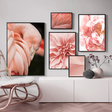 Morocco Desert Flower Flamingo Feather Nordic Posters And Prints Wall Art Canvas Painting Pictures For Living Room Decor