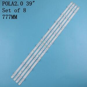 """Image 3 - 8 pcs LED backlight strip 9Lamp For LG 39"""" TV LG 39LN5100 INN0TEK POLA2.0 39 39LN5300 39LA620S POLA 2.0 39LN5400 HC390DUN VCFP1"""