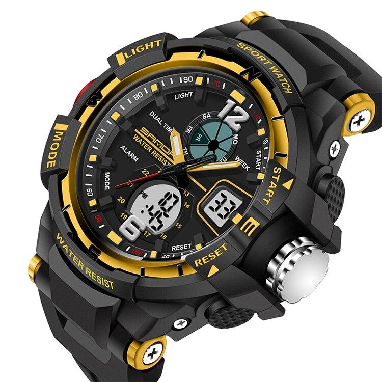 led digital relógio de quartzo militar menino
