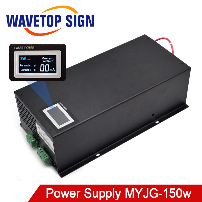 WaveTopSign MYJG-150W CO2 Laser Power Supply 130-150W For CO2 Laser Engraving And Cutting Machine