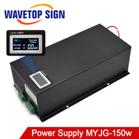 WaveTopSign MYJG 150W CO2 Laser Power Supply 130 150W for CO2 Laser Engraving and Cutting Machine