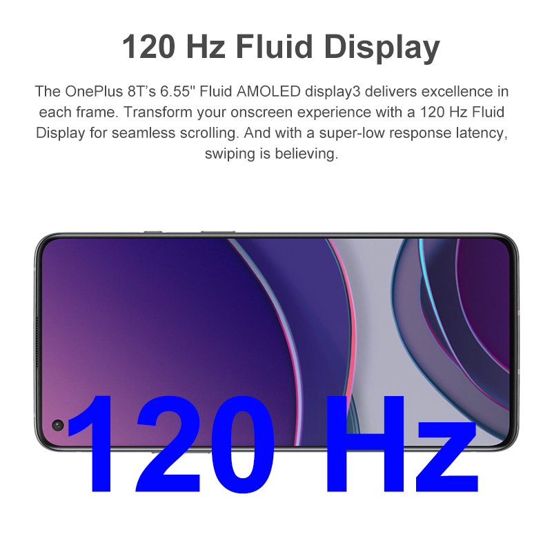 OnePlus 8T 8 T 8GB 128GB Global Rom Snapdragon 865 5G Smartphone 120Hz AMOLED Pantalla fluida 48MP Quad Cam 4500mAh 65W Warp;código: 04ESOW20(€149-20);04ESOW14(€99-14);SAVINGSES13(€150-13);SAVINGSES7(€60-7);04ESOW6 3