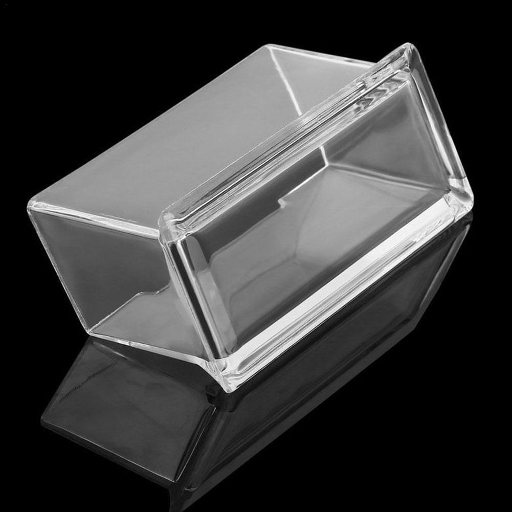 1pc Acrylic Office Supplies Plastic Transparent Desktop Desktop Case Holder Id Transparent Card Card Business Business D4F9