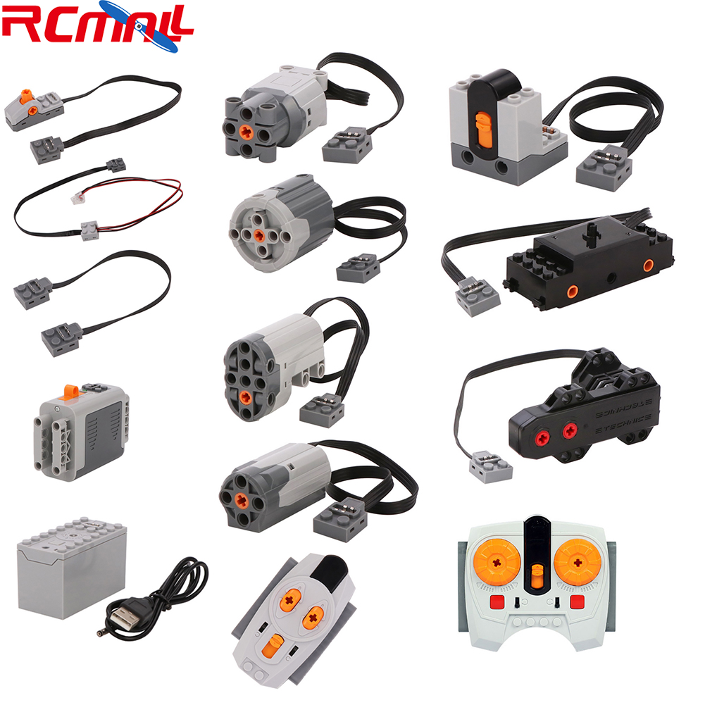 Technic Parts For Lego Legoeds Power Functions Parts Building Blocks Steering Servo Motor 2.4G Infrared IR Remote Receiver