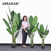 160cm Large Artificial Banana Tree Tropical Fake Plants Palm Leaves PU Monstera Green Plastic Tree Indoor for Home Office Decor