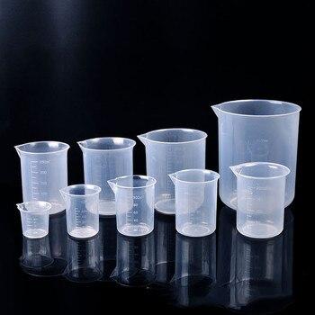 Scale Transparent Plastic Measuring Cup Liquid Graduated Volumetric Beaker Container for Baking Lab Supplie 25/50/100/200/1000ml