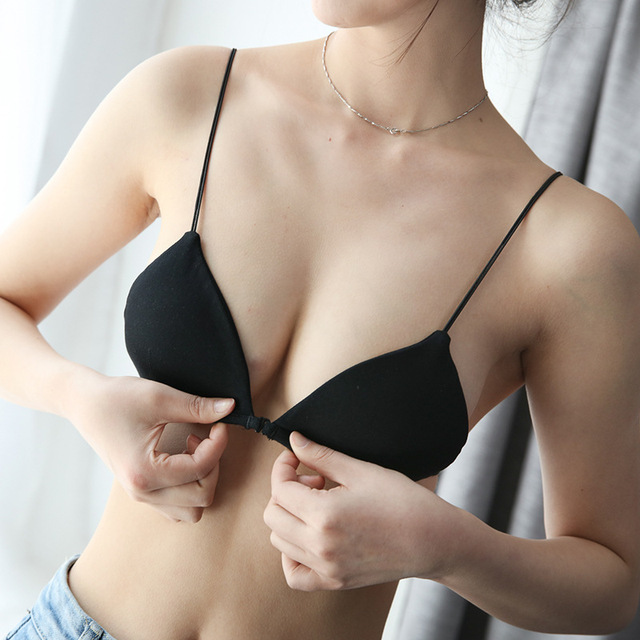 Cotton Wireless Front Closure Bras For Women Sexy Lingerie Adjusted Push Up Bra Backless Bralette