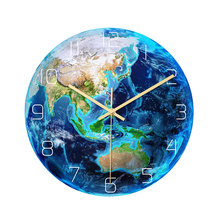 Wall-Clock Bedroom-Decor Luminous Planets Glow-In-The-Dark Sweep Mute for Kid