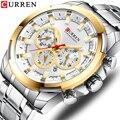 CURREN новые мужские часы из нержавеющей стали 2019 модные часы с хронографом повседневные спортивные наручные мужские часы Reloj multifuncion