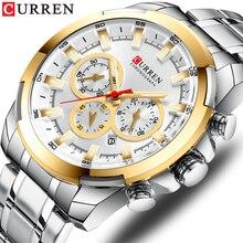 CURREN montre bracelet en acier inoxydable montre pour hommes 2019, bracelet de sport, à la mode, décontracté, multi fonction, nouvelle collection