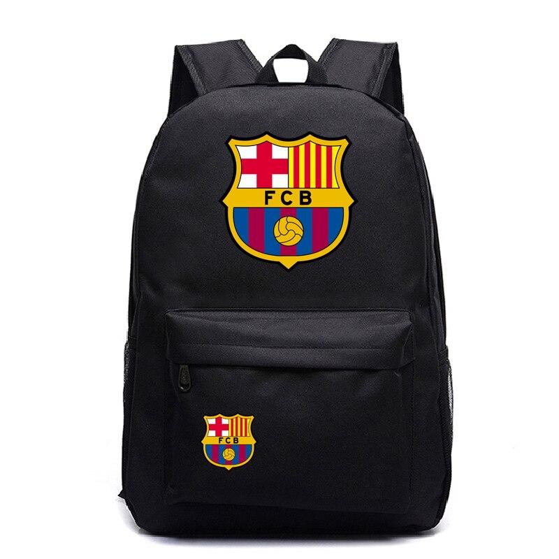 Travel Backpack Schoolbag Barcelona Logo Messi Teens Women Fashion Oxford Girls Boys