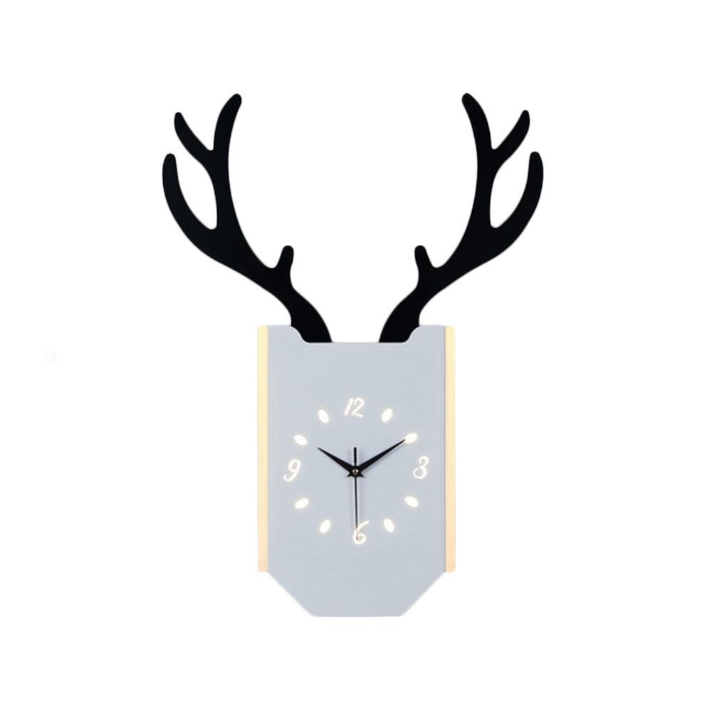 18 Вт скандинавские рога настенные лампа часы Современная гостиная спальня прикроватные часы настенный светильник освещение в помещении пр...