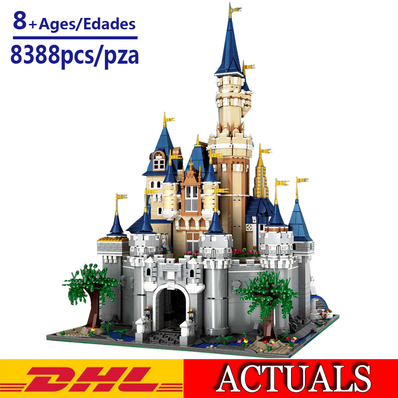 2019 New 8388pcs Cinderella Princess Castle City set Model Building Block Kid DIY toys Christmas Birthday gift Compatible 71040