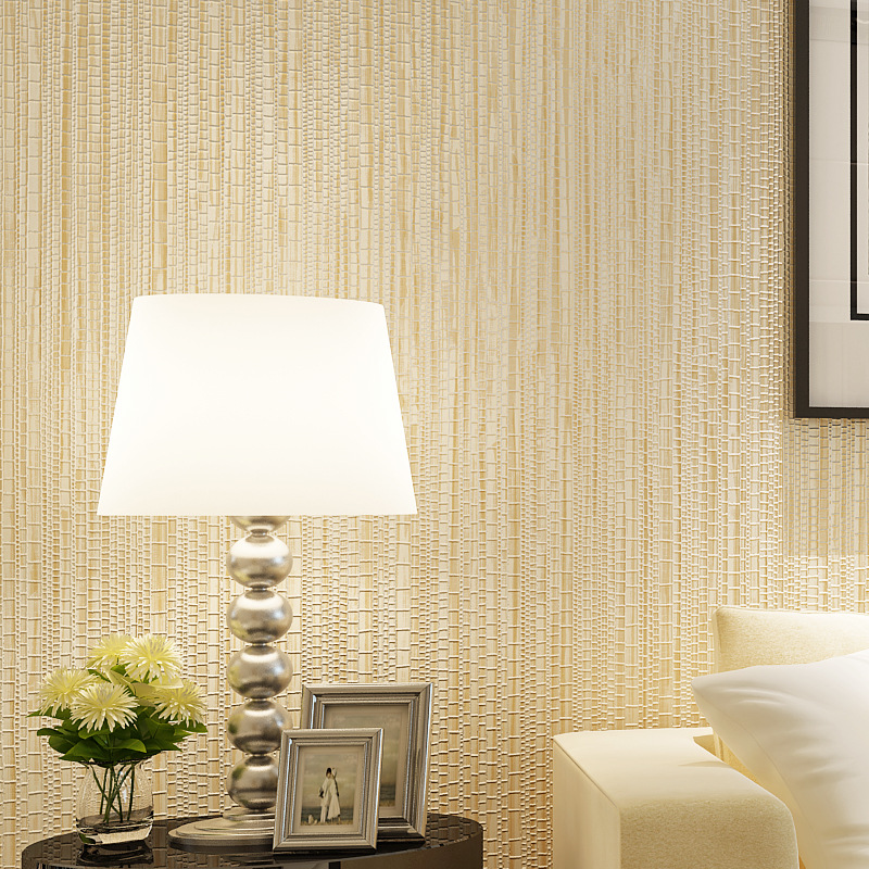 Modern Minimalist Faux Straw Plain Color Hotel Decoration Wallpaper Bedroom Living Room Non-woven Wallpaper Special Offer