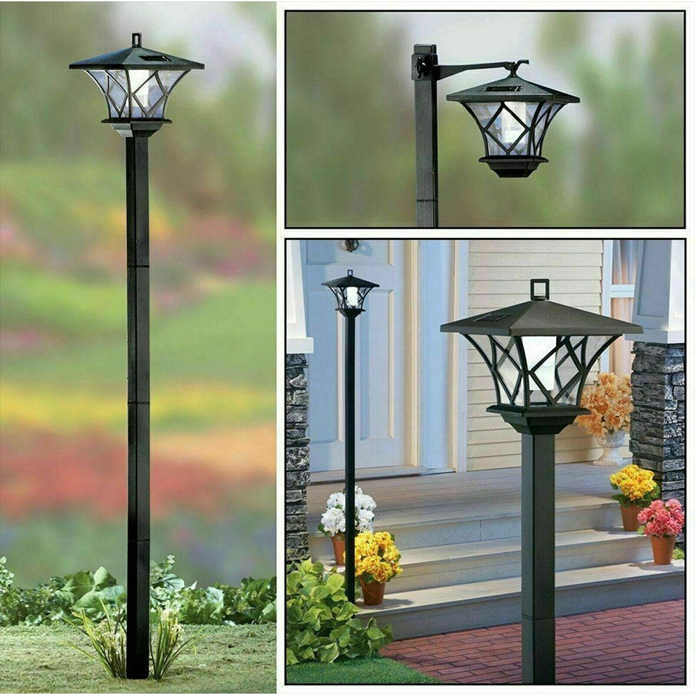 1.5 M Lawn Sturdy Energy Efficient Weather Resistant Practical Post Light Durable Solar Powered Easy Install Waterproof Wireless