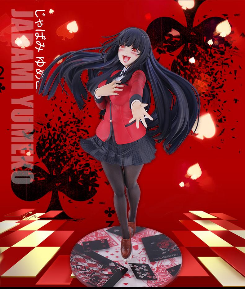 Skwenp Kakegurui Jabami Yumeko Handmade Modell 1//8 Adult PVC Figure Action Figure Desktop-Liebling Statue Anime-Modell-Dekoration-Kunst-Geschenk 22cm for Weihnachten
