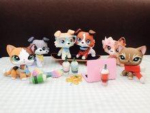 Pet Shop yeni tereyağı Collie köpek çok nadir Lot ile 16 adet aksesuarları gözlük yaka içecek kanat çocuklar oyuncaklar nadir