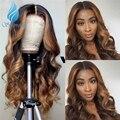 13*6 парики с эффектом омбре на сетке спереди, плотность 150%, перуанские парики без повреждений из человеческих волос, Детские волосы, хайлайте...