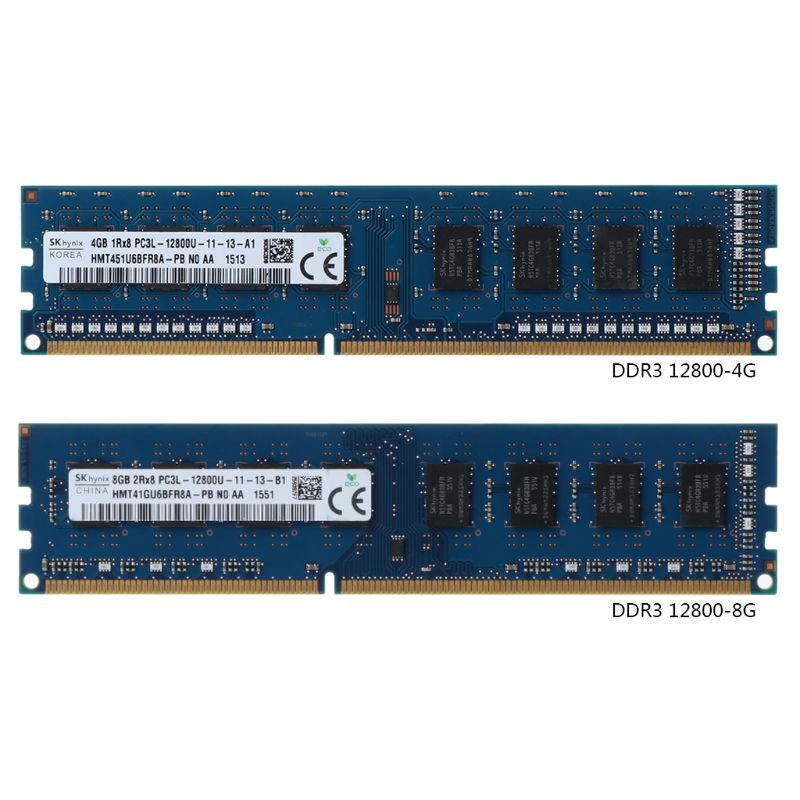 New 4GB/8GB DDR3 PC3-12800S 1600MHz PC12800 RAM DIMM Module For Hynix Chipset PC Desktop Memory