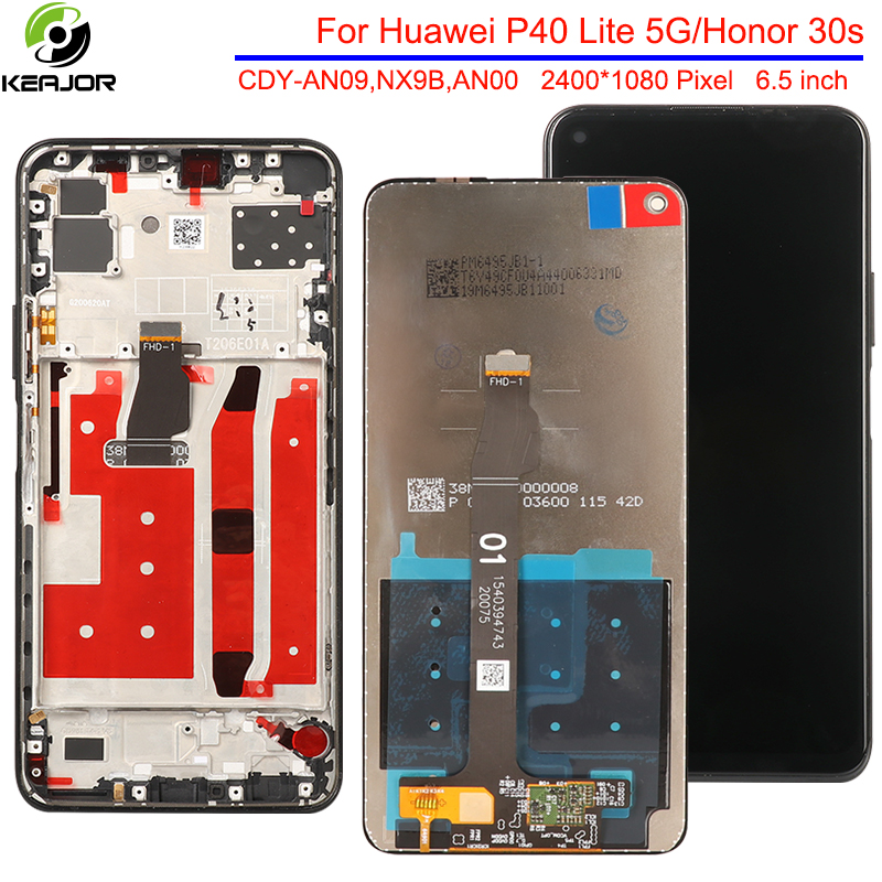 6.5'' Display For Huawei Honor 30S 30 S LCD Display Accessory Panel Replacement Assembly Touch Screen For Huawei P40 Lite 5G