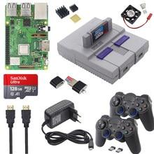 Raspberry pi 3 modelo b plus jogo de jogos + fonte de alimentação + cartão sd cabo hd + dissipador de calor retroflag nespi caso para retropie 3b plus/pi 3b +